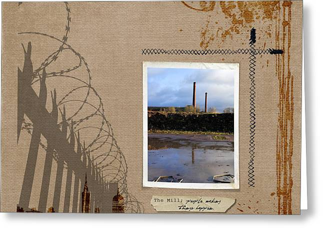 Labelled Greeting Cards - The Mill Greeting Card by Gillian Singleton
