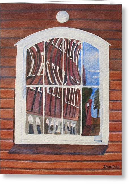 The Mill House Reflects Upon Itself Greeting Card by Jenny Armitage