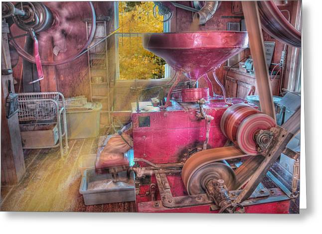 Grist Mill Greeting Cards - The Mill in Action Greeting Card by Michael Ciskowski