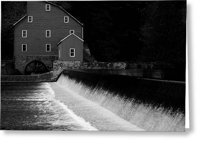 Grist Mill Greeting Cards - The Mill Greeting Card by Val Arie