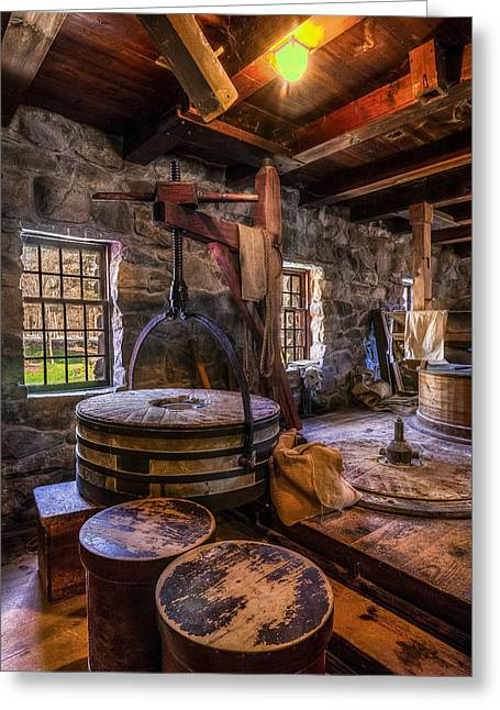 Wayside Inn Greeting Cards - The Milling Room Greeting Card by Mark Papke