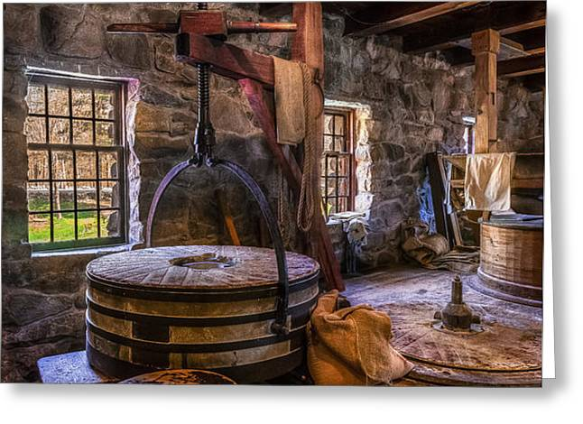 The Milling Room Greeting Card by Mark Papke