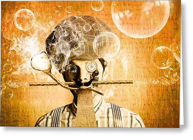 The Mind Machine Greeting Card by Jorgo Photography - Wall Art Gallery