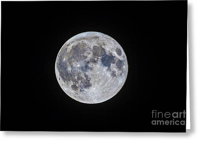 Mare Serenitatis Greeting Cards - The Mini-moon Of March 5, 2015 Greeting Card by Alan Dyer