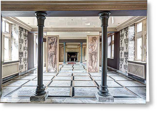 Deserted Castle Greeting Cards - The Mirror Dance Room - Urban Exploration Greeting Card by Dirk Ercken