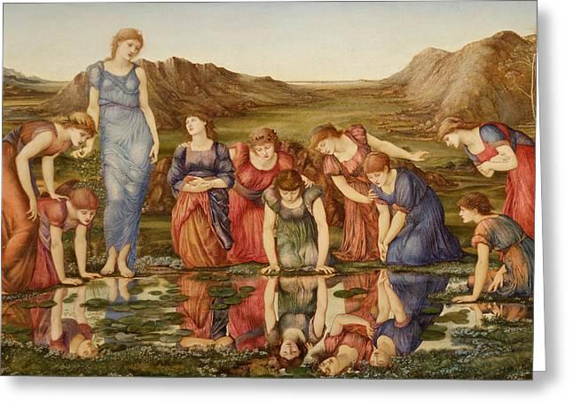 Greek Myth Greeting Cards - The Mirror of Venus Greeting Card by Edward Burne-Jones