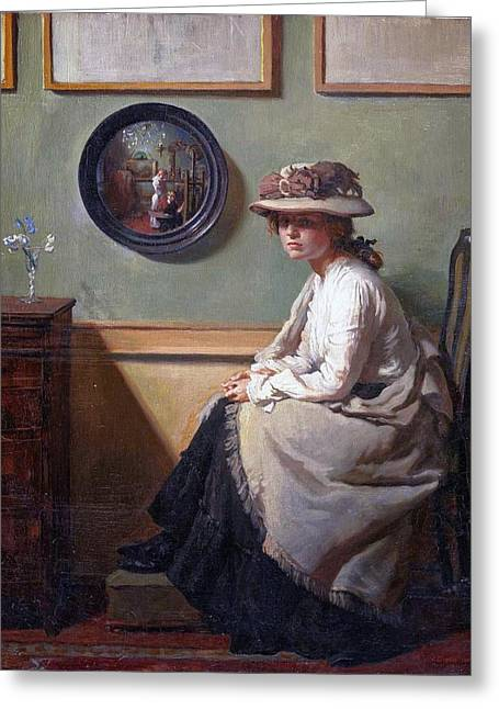 The Mirror  Greeting Card by William