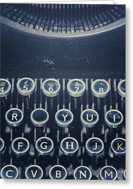 Typewriter Greeting Cards - The Missing Letter Greeting Card by Joana Kruse