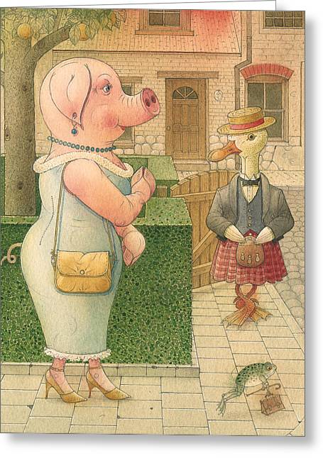 Pigs Greeting Cards - The Missing Picture02 Greeting Card by Kestutis Kasparavicius
