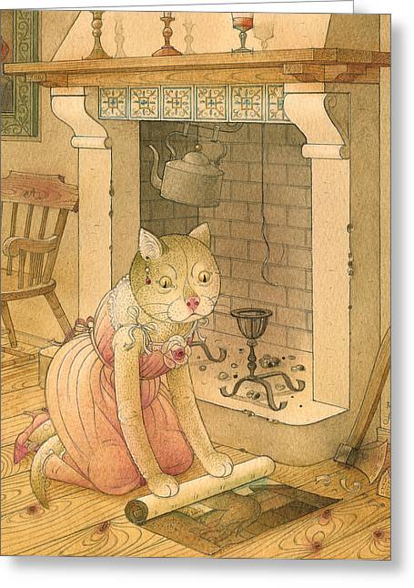 Hearth Greeting Cards - The Missing Picture22 Greeting Card by Kestutis Kasparavicius
