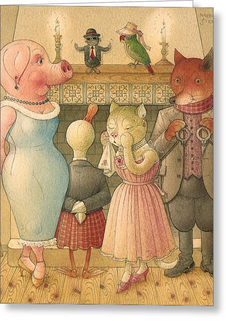 Hearth Greeting Cards - The Missing Picture23 Greeting Card by Kestutis Kasparavicius