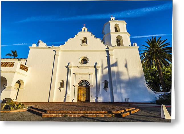 Historic Site Greeting Cards - The Mission Greeting Card by Joseph S Giacalone