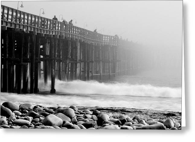 Foggy Ocean Greeting Cards - The Mist Greeting Card by Aron Kearney Fine Art Photography