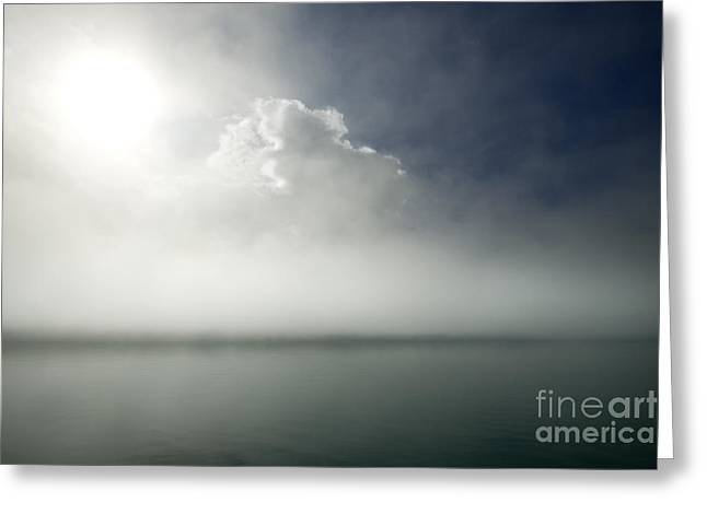Foggy Day Greeting Cards - The Misty Silence Greeting Card by Angel  Tarantella