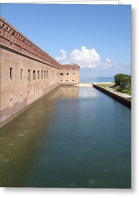 The Moat Greeting Card by Barry Fineberg