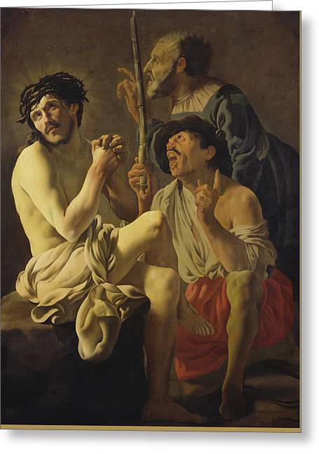 Mocking Greeting Cards - The Mocking of Christ  Greeting Card by Hendrick Ter Brugghen