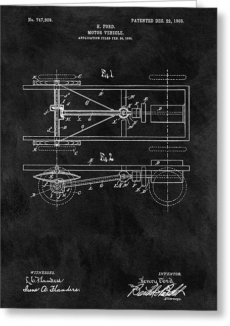 The Model T Patent Greeting Card by Dan Sproul