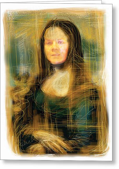 Mona Greeting Cards - The Mona Lisa Greeting Card by Russell Pierce