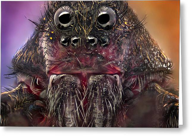 Nikon Greeting Cards - The Monster Greeting Card by Jorge Fardels