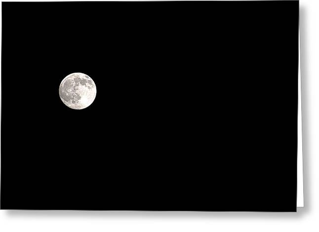 Bruster Greeting Cards - The Moon Greeting Card by Clayton Bruster