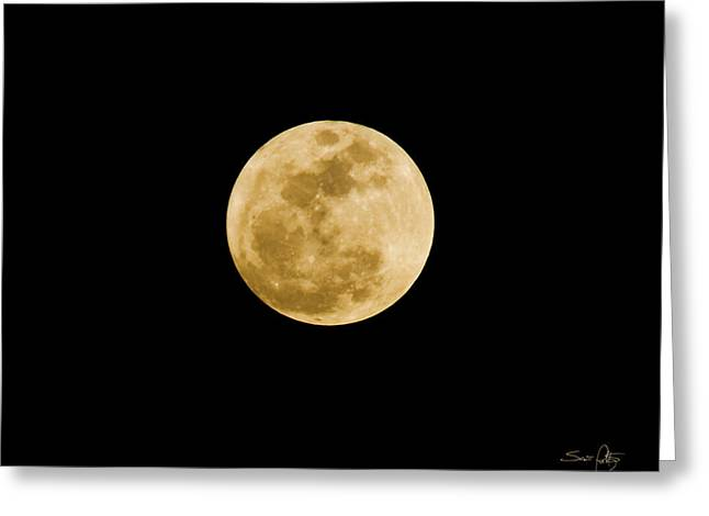 Harvest Moon Greeting Cards - The Moon Greeting Card by Scott Pellegrin