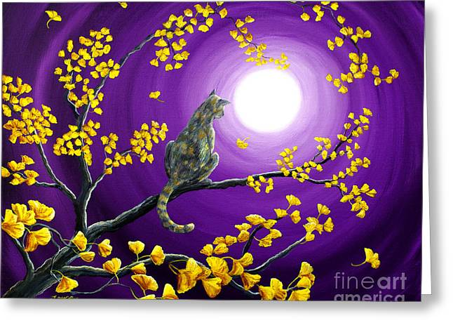 Mute Greeting Cards - The Moon Shone Upon Me Greeting Card by Laura Iverson