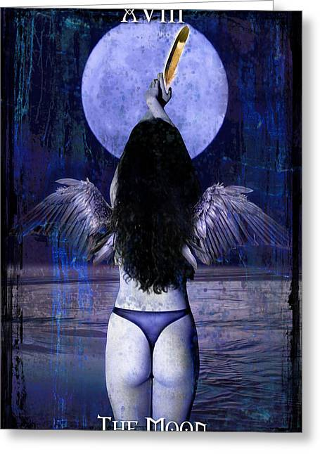 Divine Feminine Greeting Cards - The Moon Greeting Card by Tammy Wetzel