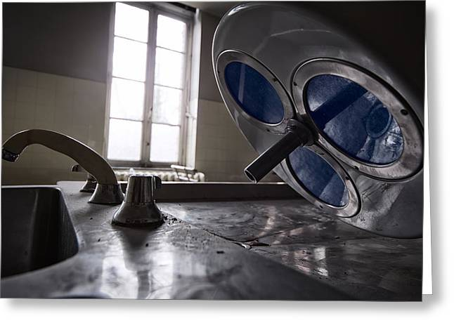 Post-mortem Greeting Cards - The Morgue Autopsy Room - Abandoned Hospital Greeting Card by Dirk Ercken