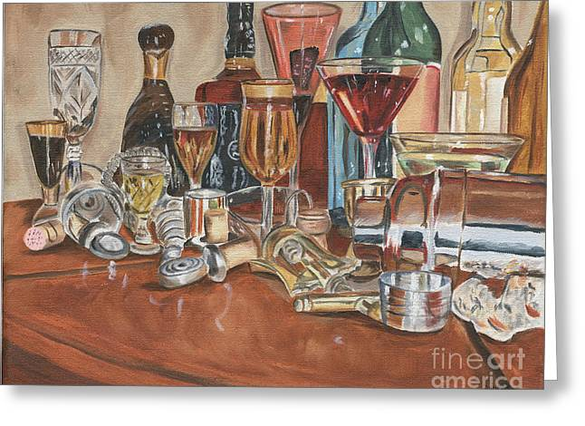 Chianti Greeting Cards - The Morning After Greeting Card by Debbie DeWitt