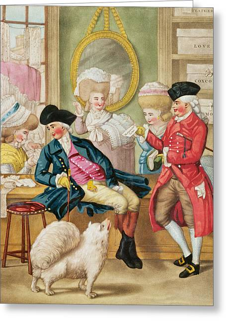 The Morning Ramble Or The Milliners Shop Greeting Card by Robert Dighton
