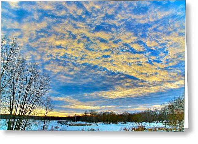 Blue Pastels Greeting Cards - The morning show Greeting Card by Robert Pearson