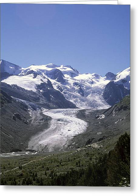 Graubunden Greeting Cards - The Morteratsch Glacier Till Greeting Card by Taylor S. Kennedy