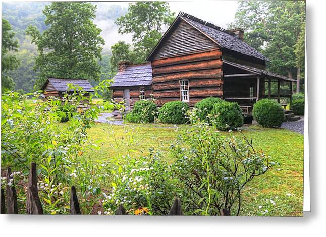 The Nature Center Greeting Cards - The Mountain Farm Museum II Greeting Card by Carol R Montoya