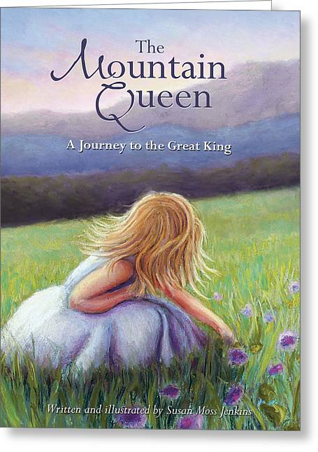Morning Pastels Greeting Cards - The Mountain Queen book cover Greeting Card by Susan Jenkins