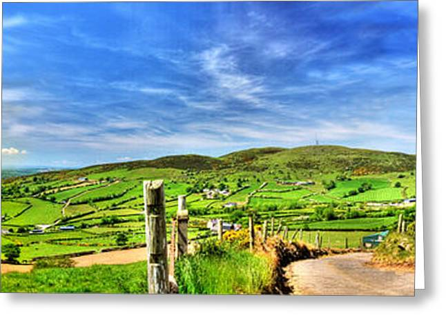 Hdr Landscape Mixed Media Greeting Cards - The Mournes Far and Wide Greeting Card by Kim Shatwell-Irishphotographer