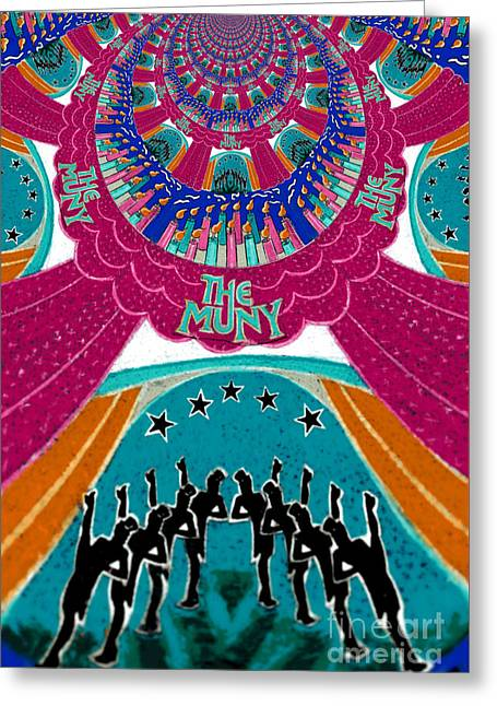 Star Greeting Cards - The Muny Birthday Celebration 5 Greeting Card by Genevieve Esson