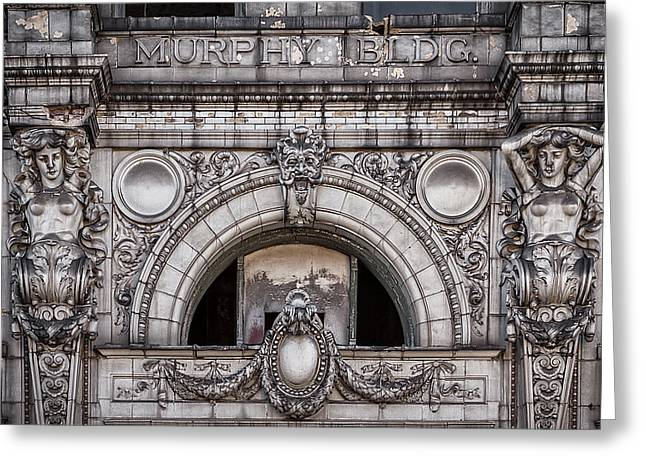 Adjectives Greeting Cards - The Murphy Building Facade Greeting Card by Robert FERD Frank
