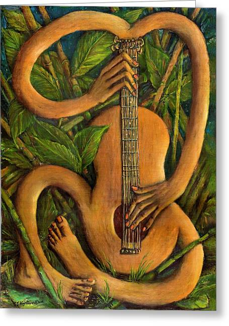 Heart Song Greeting Cards - The Music Within Greeting Card by Janice Hightower