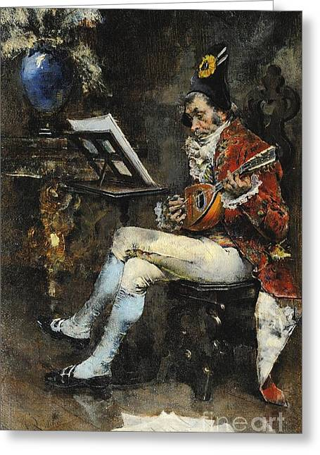 The Musician Greeting Card by Giovanni Boldini