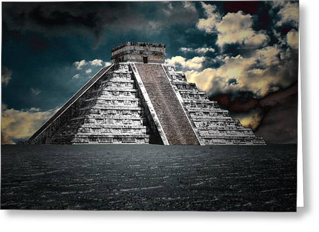 Chichen Itza Greeting Cards - The Mystery of Chichen Itza Greeting Card by Chris Brannen