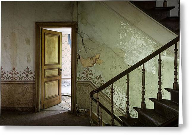 Stair Case Greeting Cards - The mystery room - urban decay Greeting Card by Dirk Ercken