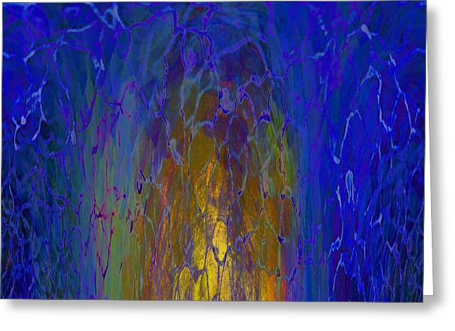 Abstract Digital Mixed Media Greeting Cards - The Narrow Gate Greeting Card by Beverly Guilliams