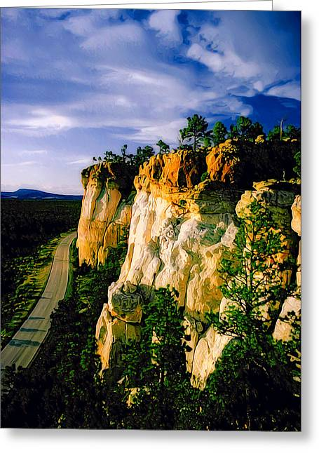 Sandstone Bluffs Greeting Cards - The Narrows Greeting Card by Bill Caldwell -        ABeautifulSky Photography