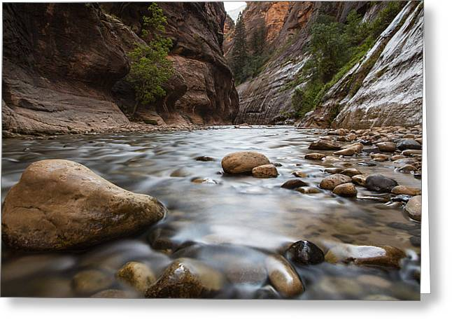 Exposure Greeting Cards - The Narrows Zion National Park Greeting Card by John McGraw