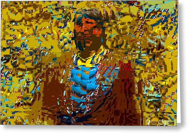Cubism Art Greeting Cards - The Native American Greeting Card by David Lee Thompson