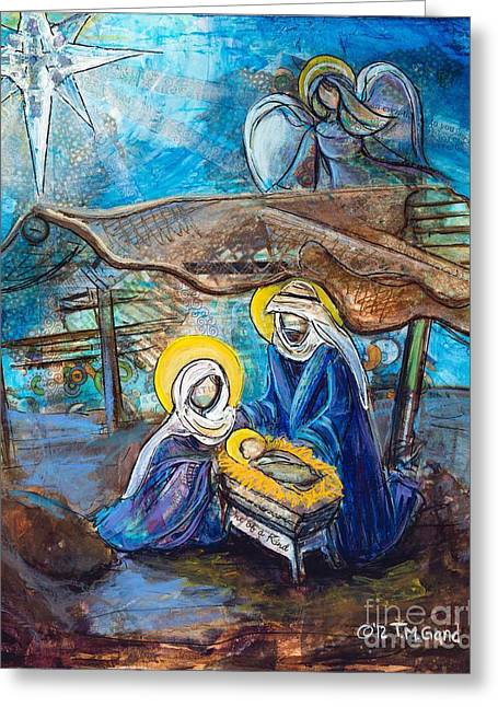 Recently Sold -  - Night Angel Greeting Cards - The Nativity Greeting Card by TMGand
