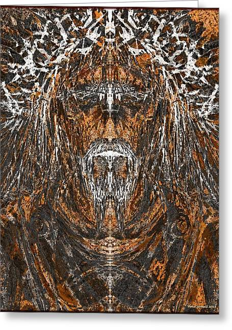 Mystic Art Greeting Cards - The Nazarene Greeting Card by Daniel  Arrhakis