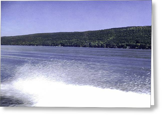 Keuka Greeting Cards - The Need for Speed Greeting Card by Alison Squiers
