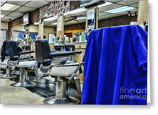 Caves Greeting Cards - The Neighborhood Barbershop Greeting Card by Paul Ward