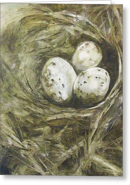 The Nest Greeting Card by Donna Thomas